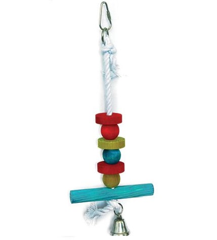 Wood & Rope Bird Toy