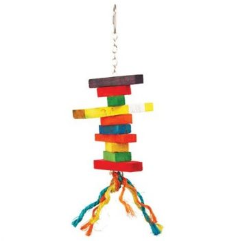 Wood and Rope Bird Toy